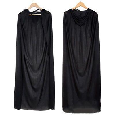 Schwarzer Halloween Todesumhang, Erwachsene Kinder Hexe Halloween Lange Man L8G8
