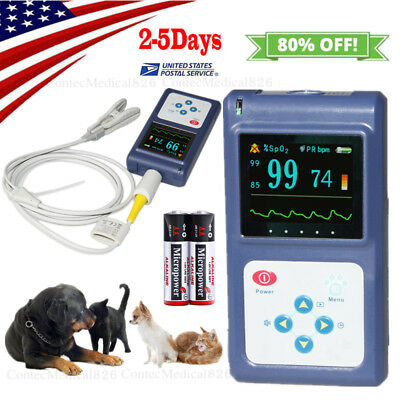 Veterinary Pulse Oximeter Handheld Vet Spo2 Pulse Rate Monitor Free Softwareusa