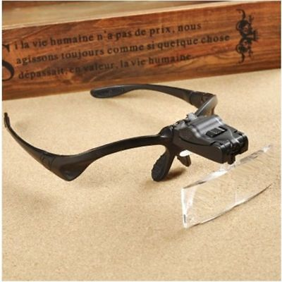 Magnifying Glass Head Lens Watchmaker Dental Loupes Jewelry Light Magnifier 1x