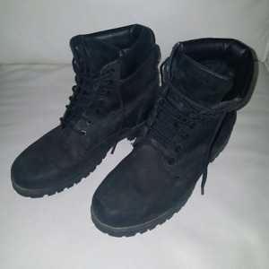 All Black Mens Timberland Boots Size 9.5US