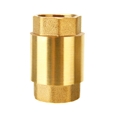 34 Npt Pipe Threaded Brass In-line Spring Check Valve Inline One Way Copper Us