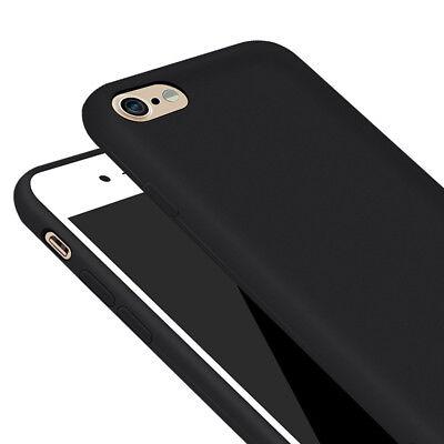 Scandoo Apple iPhone 6 / 6s Slim Schutzhülle Case Silikon schwarz matt ()