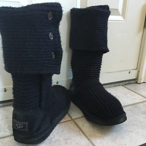 UGG Boots - Black Knitted