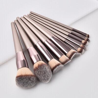 - 10PCS Pro Makeup Brushes Set High Quality Foundation Eyeshadow Cosmetic Brush