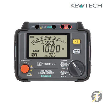 Kewtech Kyoritsu Kew3125a High Voltage Insulation Tester 250-5000v With Filter