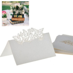 50X Butterfly Laser Cut Place Cards Name Wedding Party Birthday Table Decor