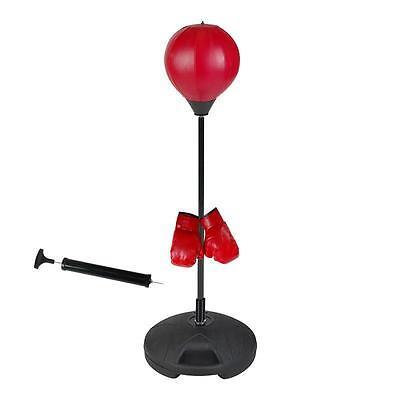 Speedball Punchingball mit Boxhandschuhen Standboxball Schlagbirne Boxsack Boxen