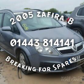 2005 - 55 plate Vauxhall Zafira B - BREAKING FOR SPARES ONLY!!