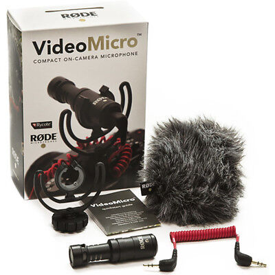 Rode VideoMicro Compact On-Camera Microphone Brand New!