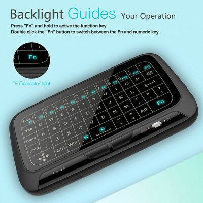 Touchpad 2.4G Backlight Keyboard Air Mouse Remote for Android Smart TV (Wireless Keyboard With Touchpad For Samsung Smart Tv)