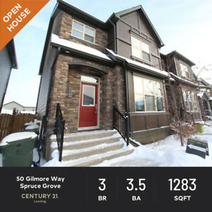 OPEN HOUSE!! SAT MAR 30 1-4 PM -  50 Gilmore Way, Spruce Grove