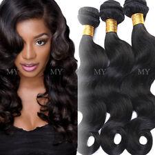 300g Soft 3 Bundles Unprocessed 7A Virgin Human Hair Brazilian Weave Extensions