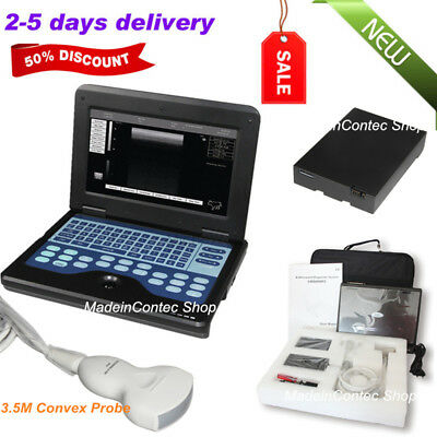 Us Portable Full Digital 10.1laptop Ultrasound Scanner System3.5m Convex Probe