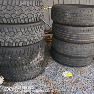 2 sets of tires...one set of rims 195/65r/15 400$ for both sets