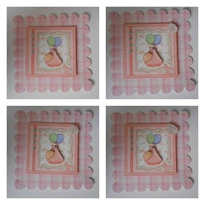 PACK 2 BABY GIRL BALLOON TOPPERS FOR CARDS OR CRAFTS - 4 THEMES (Baby Themes For Girl)
