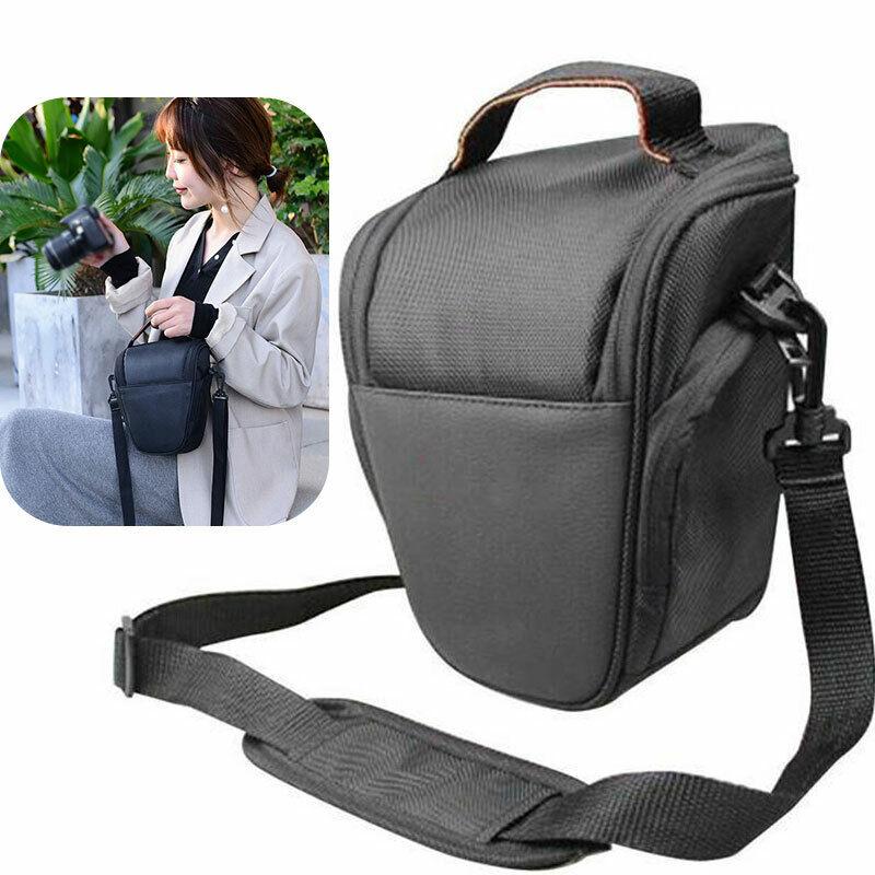 Black Waterproof Digital DSLR SLR Camera Shoulder Case Waist Bag For Nikon Canon