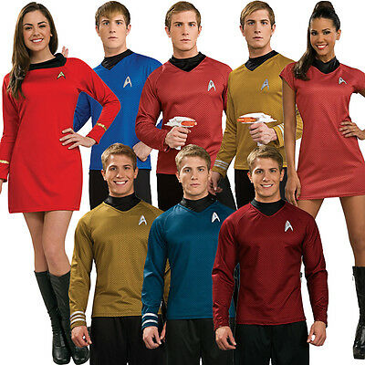 Licensed Adult Star Trek Movie Fancy Dress New Costume Ladies Mens Outfit