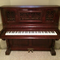 Vintage Wooden Carved Piano