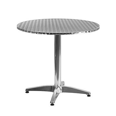 Flash Furniture 31.5inch Round Aluminum Indoor-Outdoor Table w/Base TLH-052-3-GG