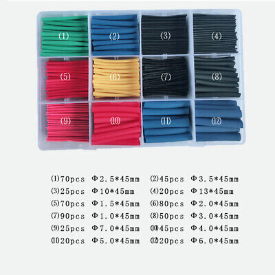 Us 560pcs Heat Shrink Tubing Electrical Wire Cable Wrap Assortment Tube Kit