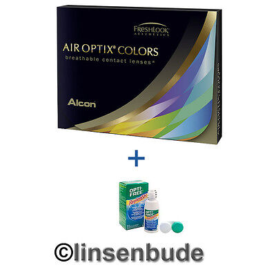 Top Farblinsen Air Optix Colors + Opti Free Replenish 90 ml inkl. Behälter