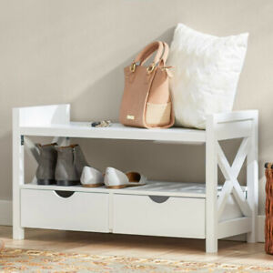 Entryway storage bench by Andover Mills