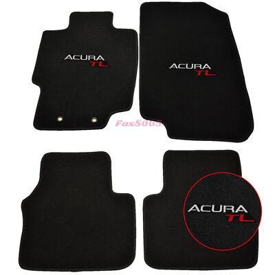 Fits 04-08 Acura TL 4Dr Nylon Floor Mats Carpets Front & Rear