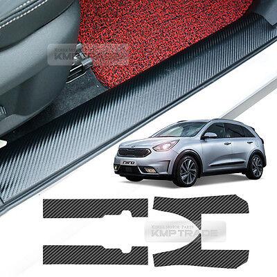 Carbon Door Scuff Decal Sticker Cover Anti Protector 4P for KIA 2016-2018 Niro