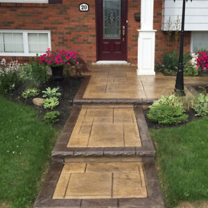 Stamped Concrete, Exposed Aggregate and Plain Concrete