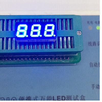 7segment Led Display 0.28inch 3digital 3-bits Block Led Tube Blue Cc 7-segmentor