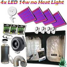 4x LED Panel Grow Lights Hydroponics 2.4m Grow Tent 6in Vent Fan Lynbrook Casey Area Preview