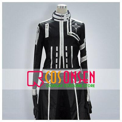 Cosonsen D Gray Man Allen Walker New Version Cosplay Costume Black White (D Gray Man Allen Walker Cosplay Costume)