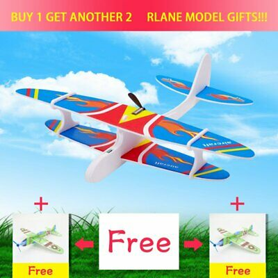 DIY Biplane Glider Foam Flying Rechargeable Electric Airplane Model Toy Children