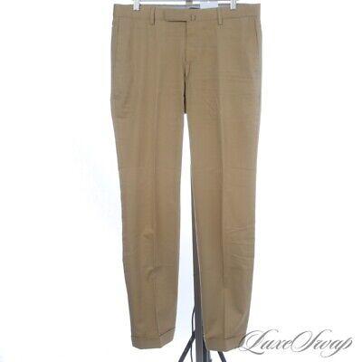 Incotex Slowear Made in Portugal Tan Khaki MODERN Spring Pants Trousers 32 NR