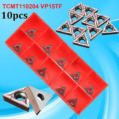 10pcs Kit Tcmt110204 Vp15tf Carbide Inserts Cnc Blade Lathe Turning Tool Durable