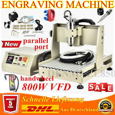 4 Axis 800w 3040 Cnc Router Engraver Milling Driller Carving Machine Handwheel
