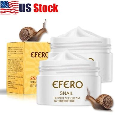 USA Snail Face Cream Hyaluronic Acid Moisturizer Anti Wrinkle Collagen Day Cream
