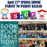 Spring Simcoe Parent to Parent Sale - over 140 Tables!