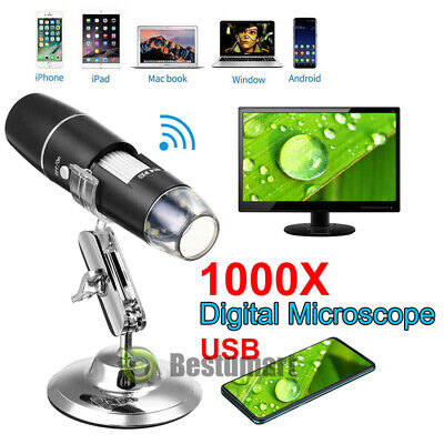 3in1 Digital Microscope Magnifier 8led 1000x 2mp Hd 1080p Camera For Android Ios