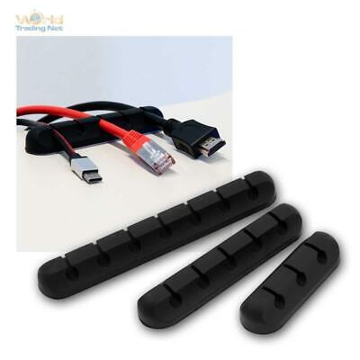 3er-Pack Soporte para Cables, Kabel-Management/Organizador, Clip, Devanadera De