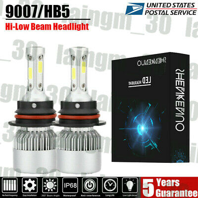 Fit For 1999-2004 Ford Mustang Pair 9007/HB5 LED Headlight High-Low Beam Bulbs Ford Mustang Dual Led