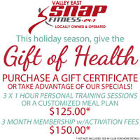 PURCHASE THE GIFT OF HEALTH THIS HOLIDAY SEASON!