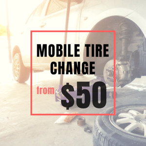 Tire Change, Mobile from $50 - We Come To You