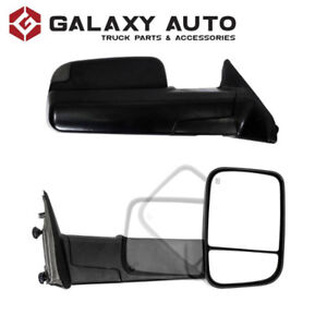 NEW Black Towing Mirrors for 09-18 Dodge Ram 1500/2500/3500