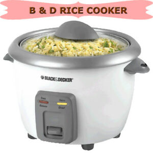 BLACK & DECKER RICE COOKER, STEAMER AND WARMER
