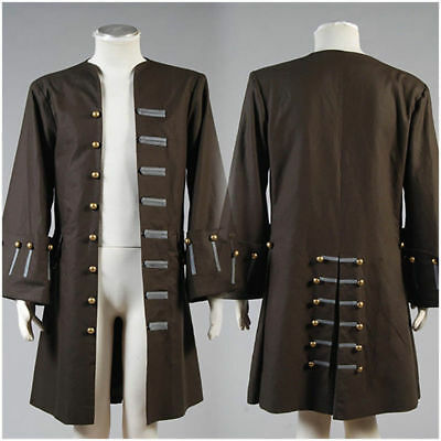 Pirates Of The Caribbean Captain Jack Jacket Coat Halloween Cosplay Costume - Pirates Of Caribbean Costume