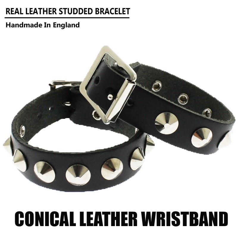 Studded Wristband Spike Leather Wristband Emo Punk Gothic Steam Punk Lot