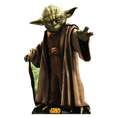YODA Star Wars Jedi Master Retouched CARDBOARD CUTOUT Standup Standee Poster F/S