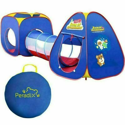 3pcs Childrens Baby Pop-Up PlayTent And Tunnel Ball Pool Pit Playhouse Kids Gift