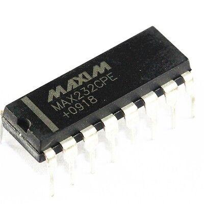 10 Pcs Ic Max232cpe Max232 2dvr2rcvr Rs232 5v 16-dip New